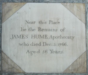 Plaque to James Hume