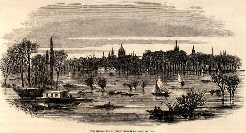 Christ Church Meadow in 1852