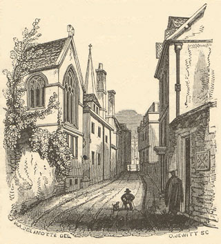 Magpie Lane in the 1840s
