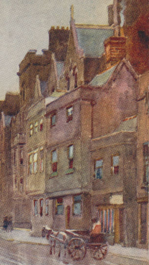 68 Holywell Street in painting by Matthison