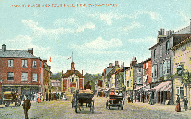 Henley market place and town hall