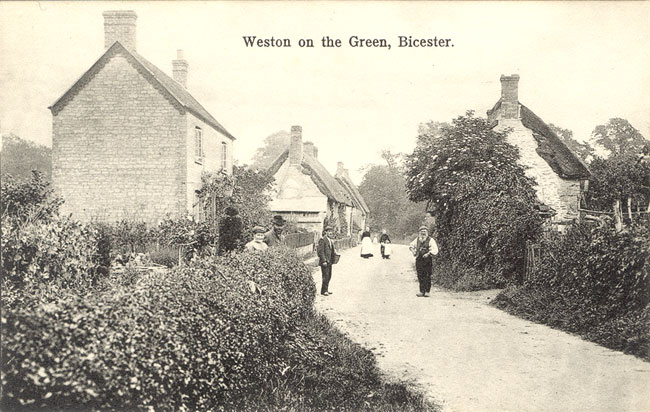 Weston-on-the-Green in 1900