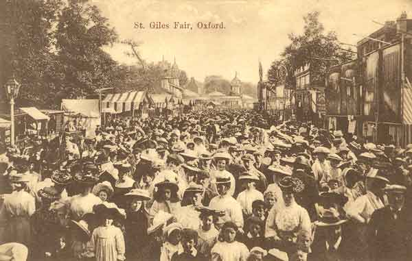 St Giles Fair in Edwardian times