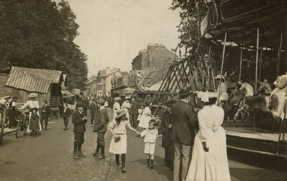 St Giles' Fair in Edwardian times