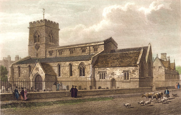 St Giles' Church in 1834