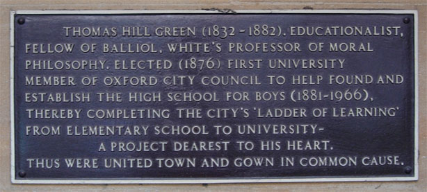 Inscription on former City of Oxford High School for Boys, George Street