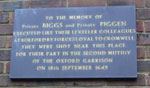 Plaque to the Levellers, Gloucester Green