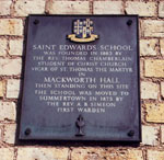 Site of first St Edward's School
