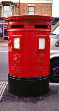 Double pillar box in Cowley Road