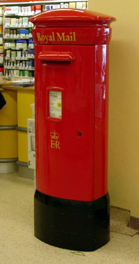 Postbox in Tesco's