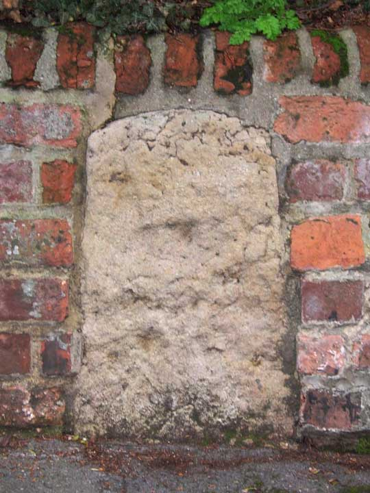 Stone in wall of 78 Banbury Road