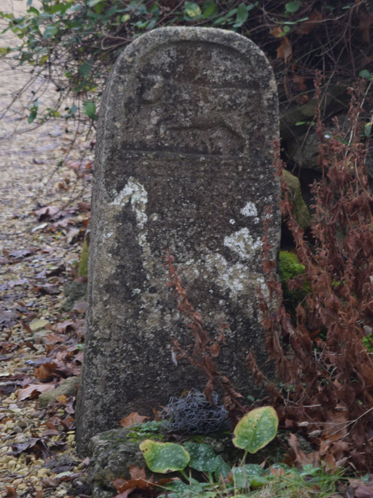 Boundary stone on Cuckoo Lane beside Woodlands Road