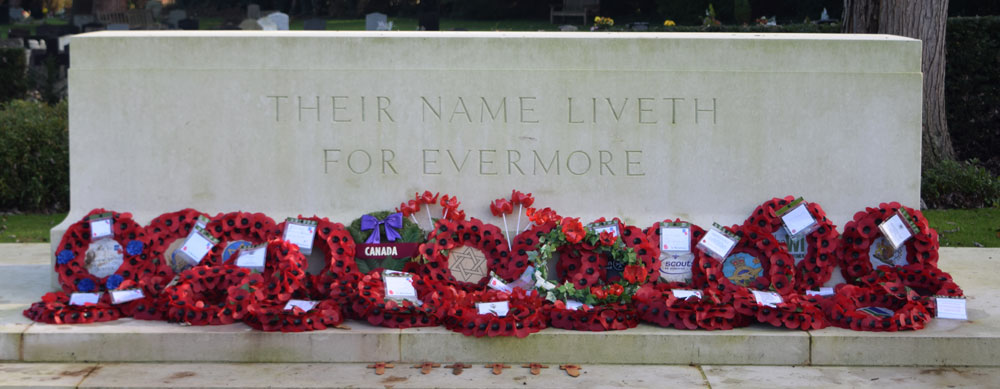 Stone of Remembrance at Botley Cemetery