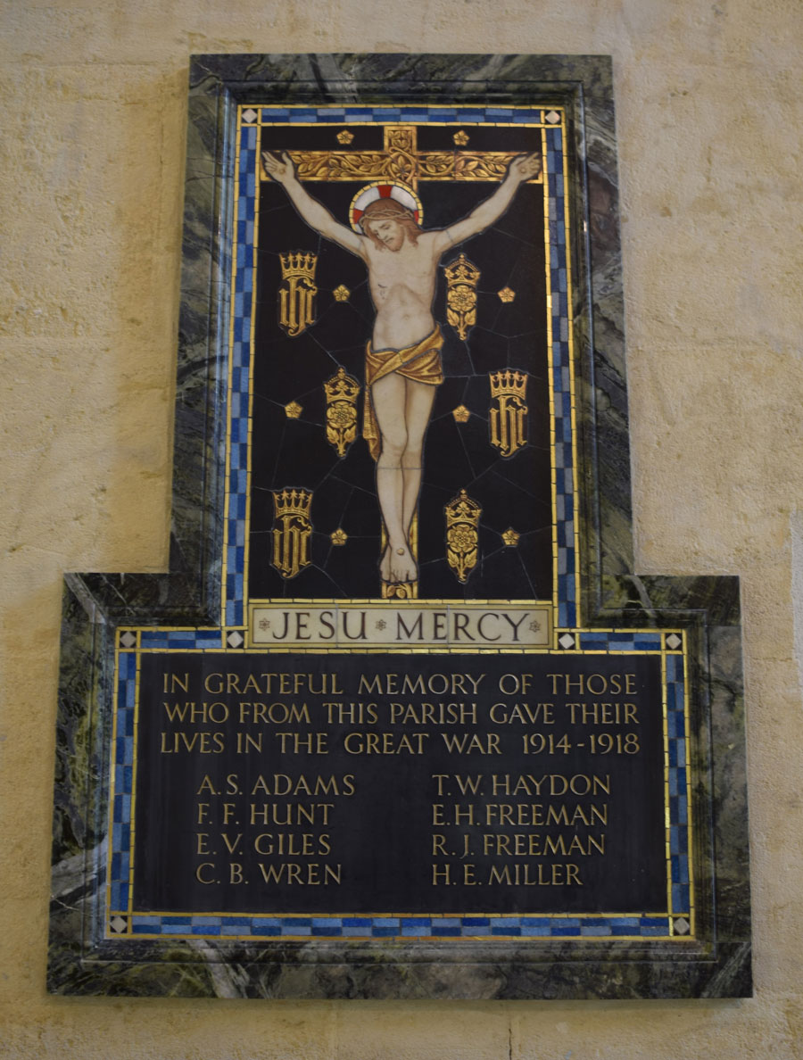 St Cross Church War Memorial