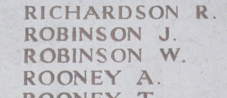 Memorial to Walter Robinson